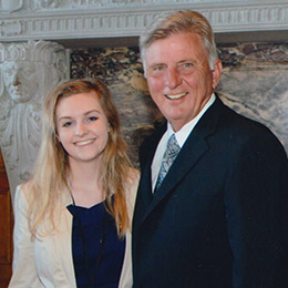 Jessica Himes and Governor