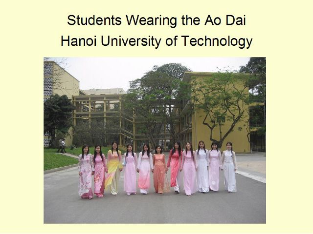 The Ao Dai, Vietnamese traditional dress.