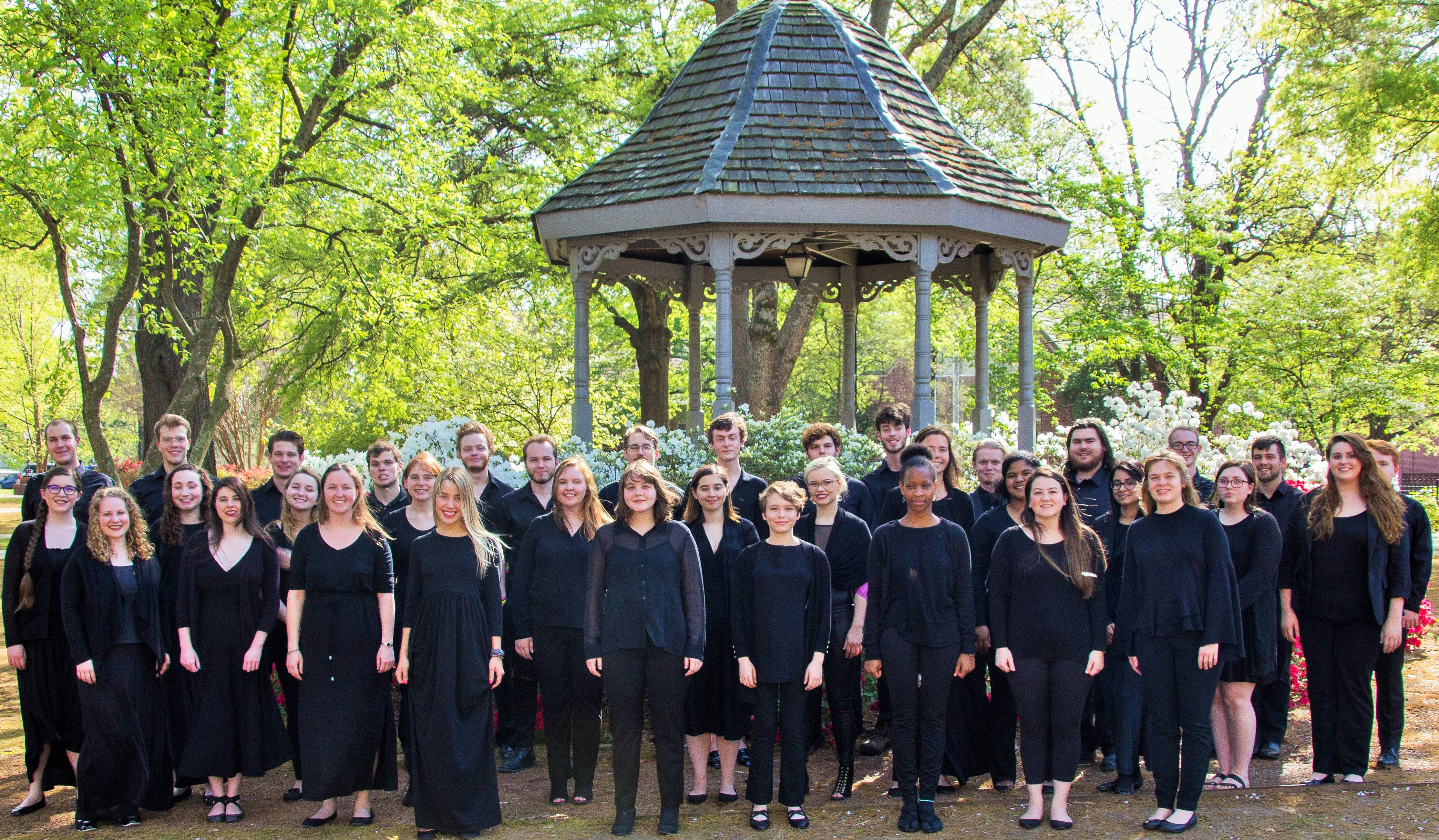 Outdoors Choir Students  2018