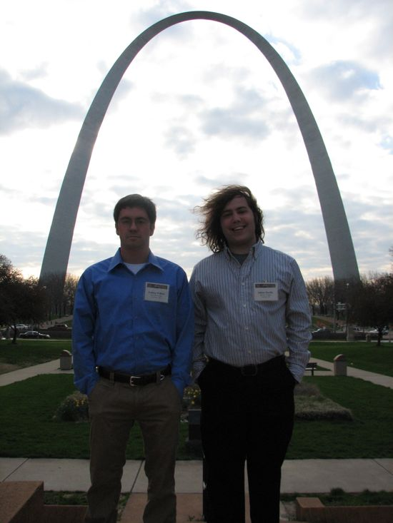 Adam and Josh Framed by the Arch
