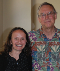 Lindsey Smith with English professor Bland Crowder