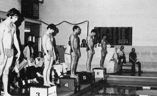 Vintage mixed nude swim teams