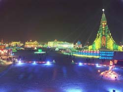 harbin at night