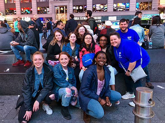 The 2019 Service-Learning group from Hendrix that traveled to New York City