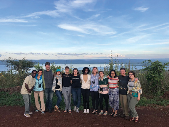 The 2019 Service-Learning group who made the trip to Gashora, Rwanda
