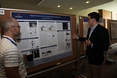 Reed Spivey '18 discusses his summer research project at the recent symposium hosted by UAMS. [Photo courtesy the University of Arkansas for Medical Sciences]